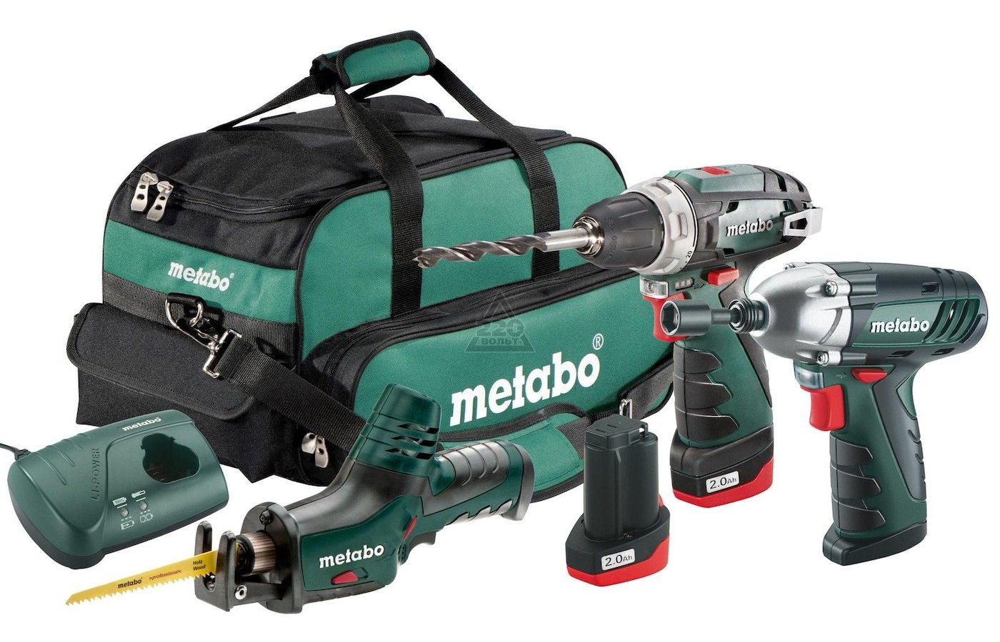 Дрель METABO Combo Set 3.2: BS+ASE+SSD+2x2.0Ач в сумке