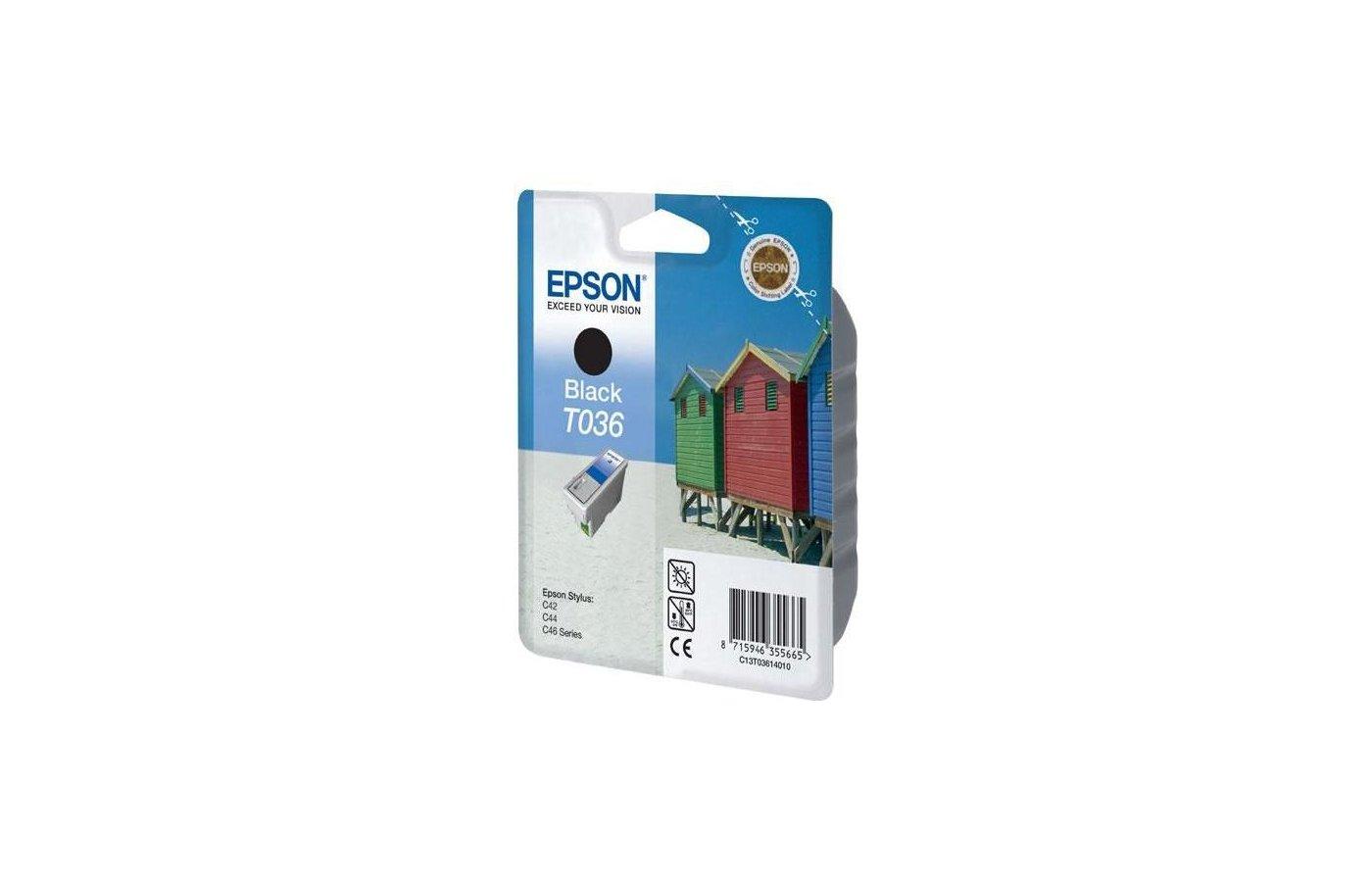 Картридж струйный Epson C13T03614010 картридж Black для Stylus Color C42 (черный)