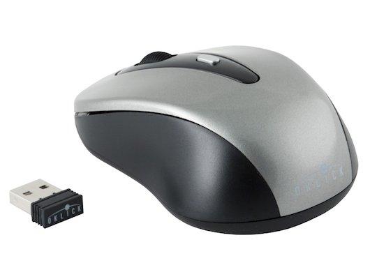 Мышь беспроводная Oklick 435MW серый/черный