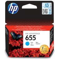 Фото Картридж струйный HP 655 CZ110AE голубой для Deskjet Ink Advantage 3525, 4615, 4625, 5525, 6525 e-All-in-One (600стр.)