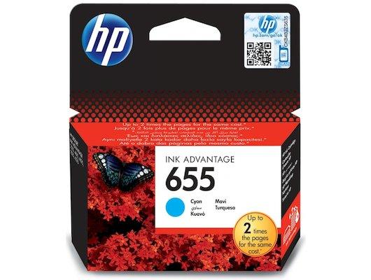 Картридж струйный HP 655 CZ110AE голубой для Deskjet Ink Advantage 3525, 4615, 4625, 5525, 6525 e-All-in-One (600стр.)