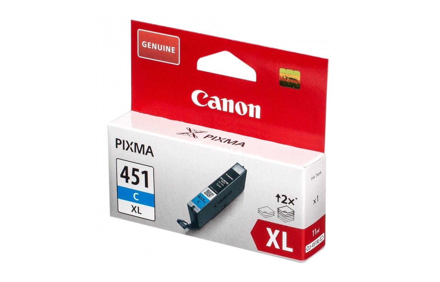 Картридж струйный Canon CLI-451C XL
