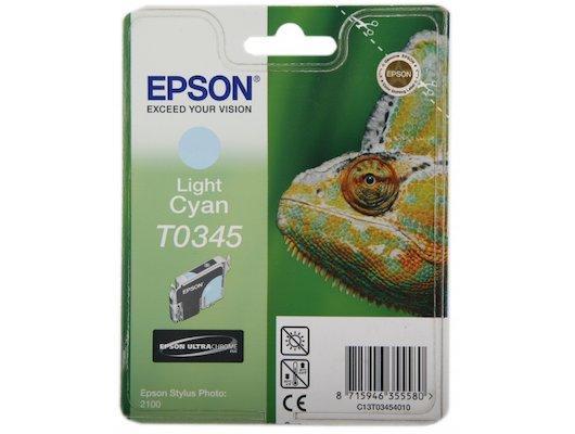 Картридж струйный Epson C13T034540 светло-голубой для Stylus Photo 2100