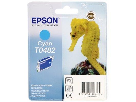 Картридж струйный Epson C13T048240 голубой для Stylus Photo R300/RX500