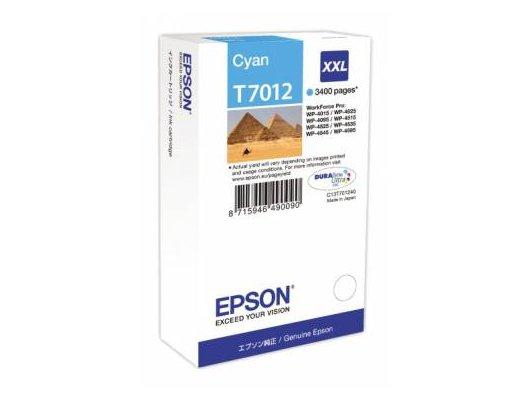 Картридж струйный Epson C13T70124010 картридж (Cyan для WP-4000/5000 series,XL 3.4k (голубой))