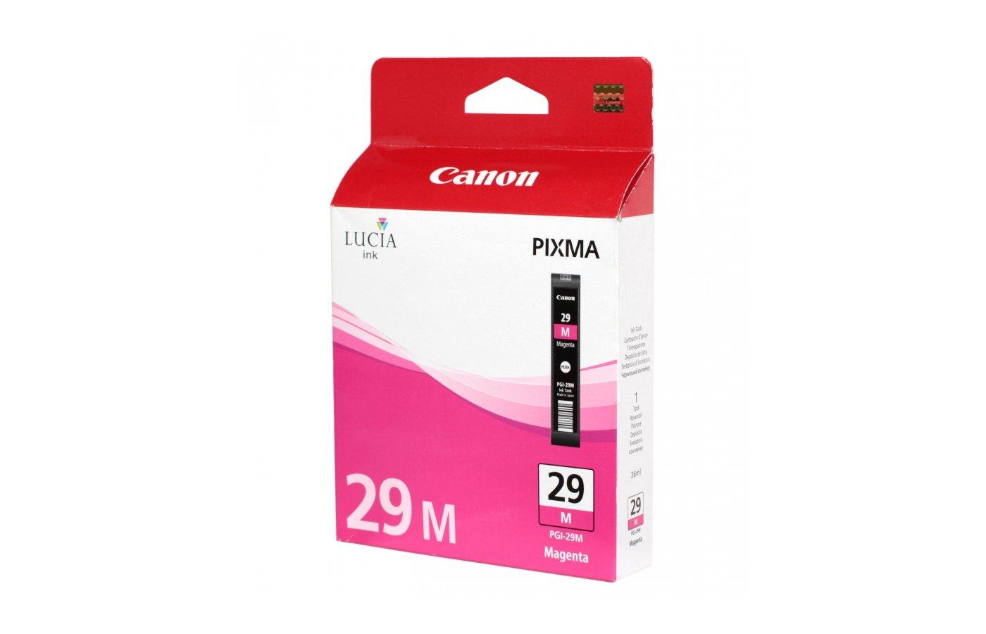 Картридж струйный Canon PGI-29M 4874B001 малиновый для Pixma Pro 1