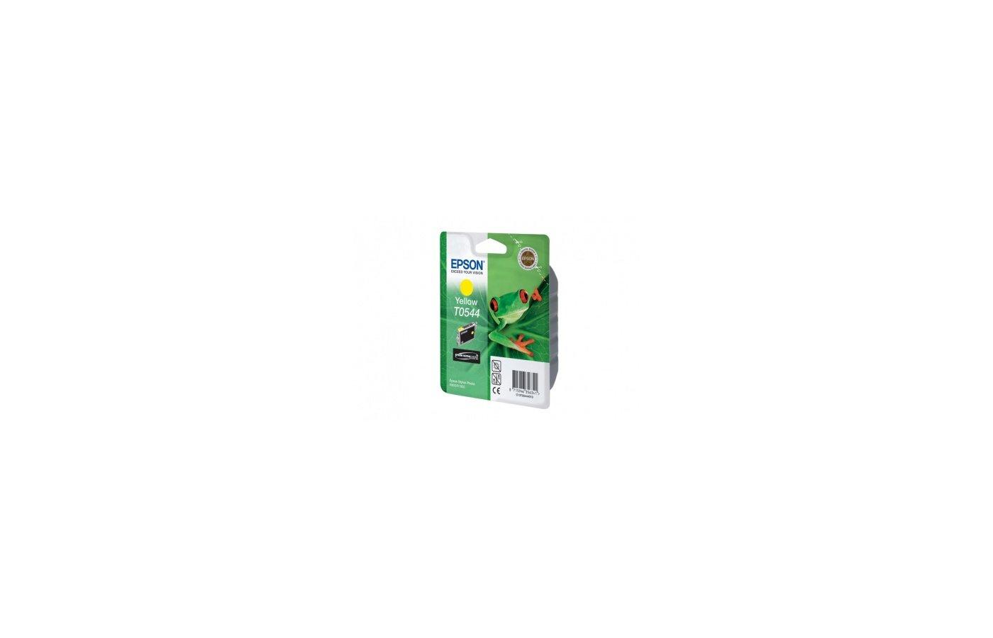 Картридж струйный Epson C13T054440 желтый для Stylus Photo R800