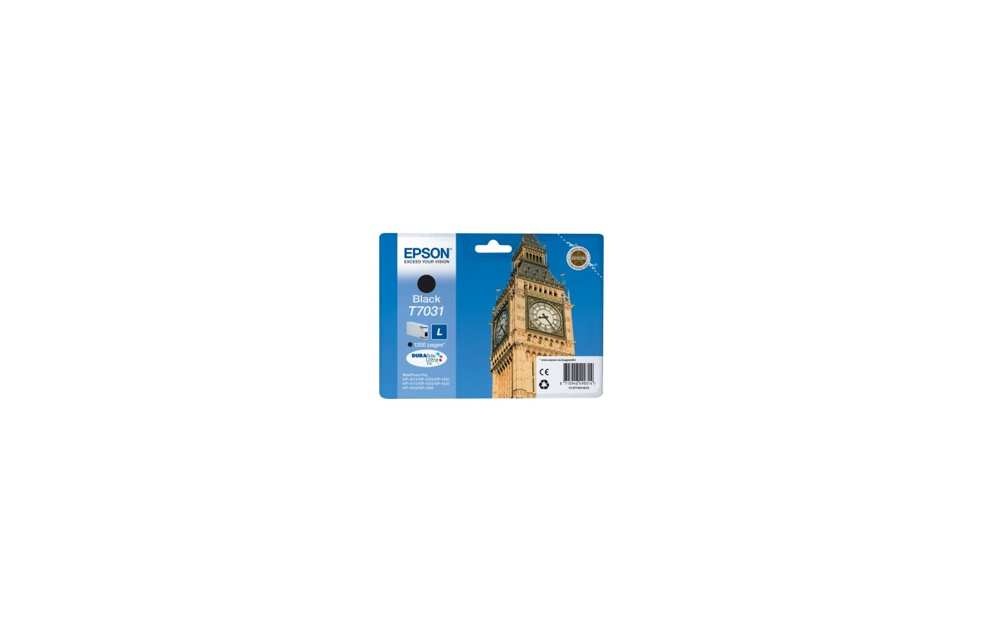 Картридж струйный Epson C13T70314010 картридж (Black для WP-4000/5000 series,L 1.2k (черный))