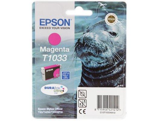 Картридж струйный Epson C13T10334A10 картридж (Magenta для Stylus T40W/TX600FW (extra high capacity) (пурпурный))