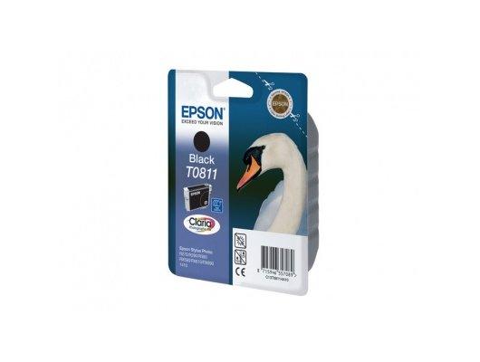 Картридж струйный Epson C13T11114A10 T0811 черный R270/290/RX590 (замена C13T08114A)