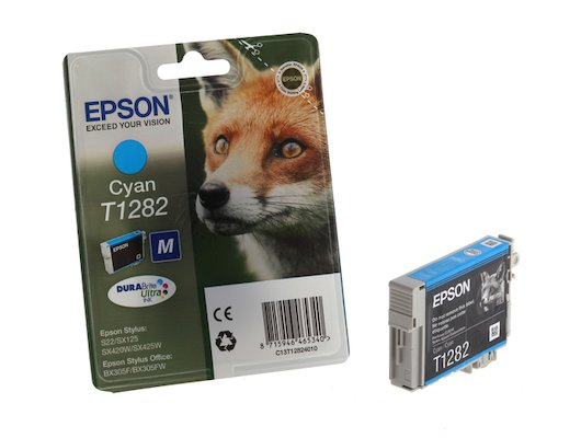 Картридж струйный Epson C13T12824011 картридж (Cyan для Stylus S22/SX130/SX230/SX420W/SX425W/BX305F (голубой))