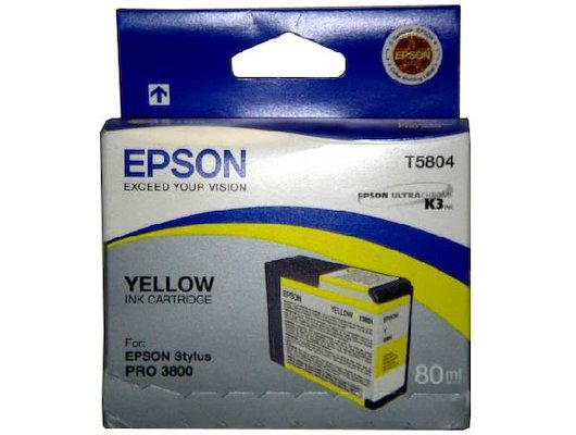 Картридж струйный Epson C13T580400 картридж (Yellow для Stylus PRO 3800 (желтый))