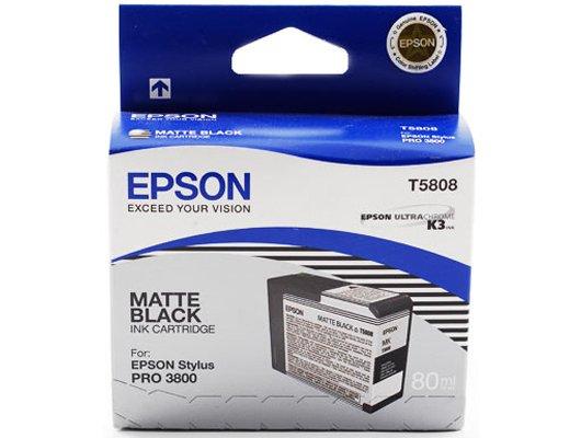 Картридж струйный Epson C13T580800 картридж (Matte Black для Stylus PRO 3800 (матовый черный))