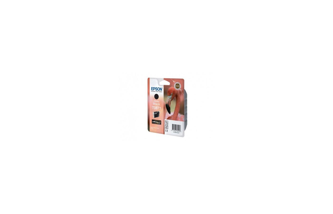 Картридж струйный Epson C13T087140 черный для Stylus Photo R1900