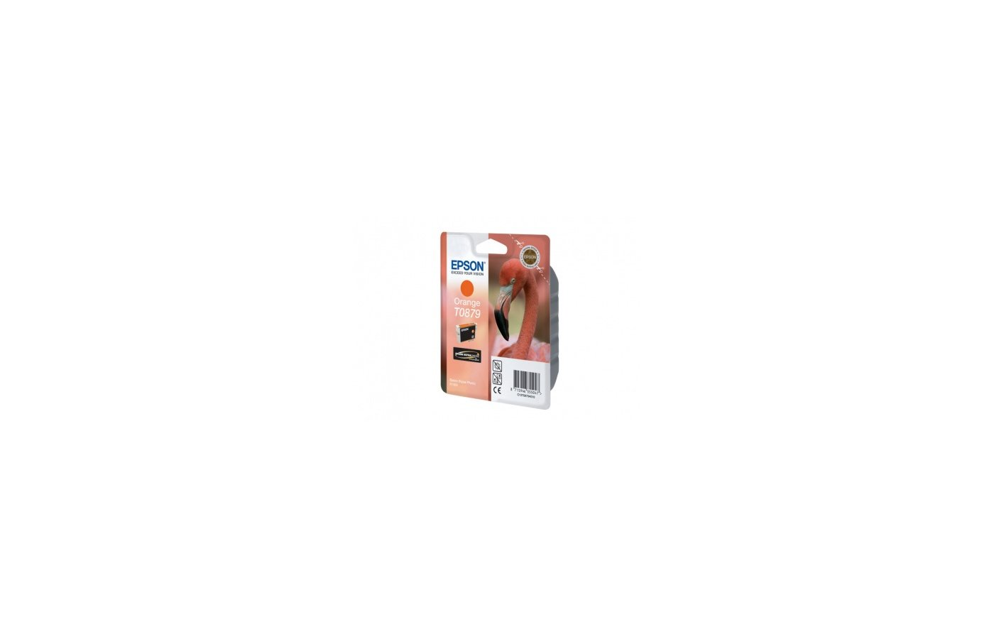 Картридж струйный Epson C13T087940 оранжевый для Stylus Photo R1900