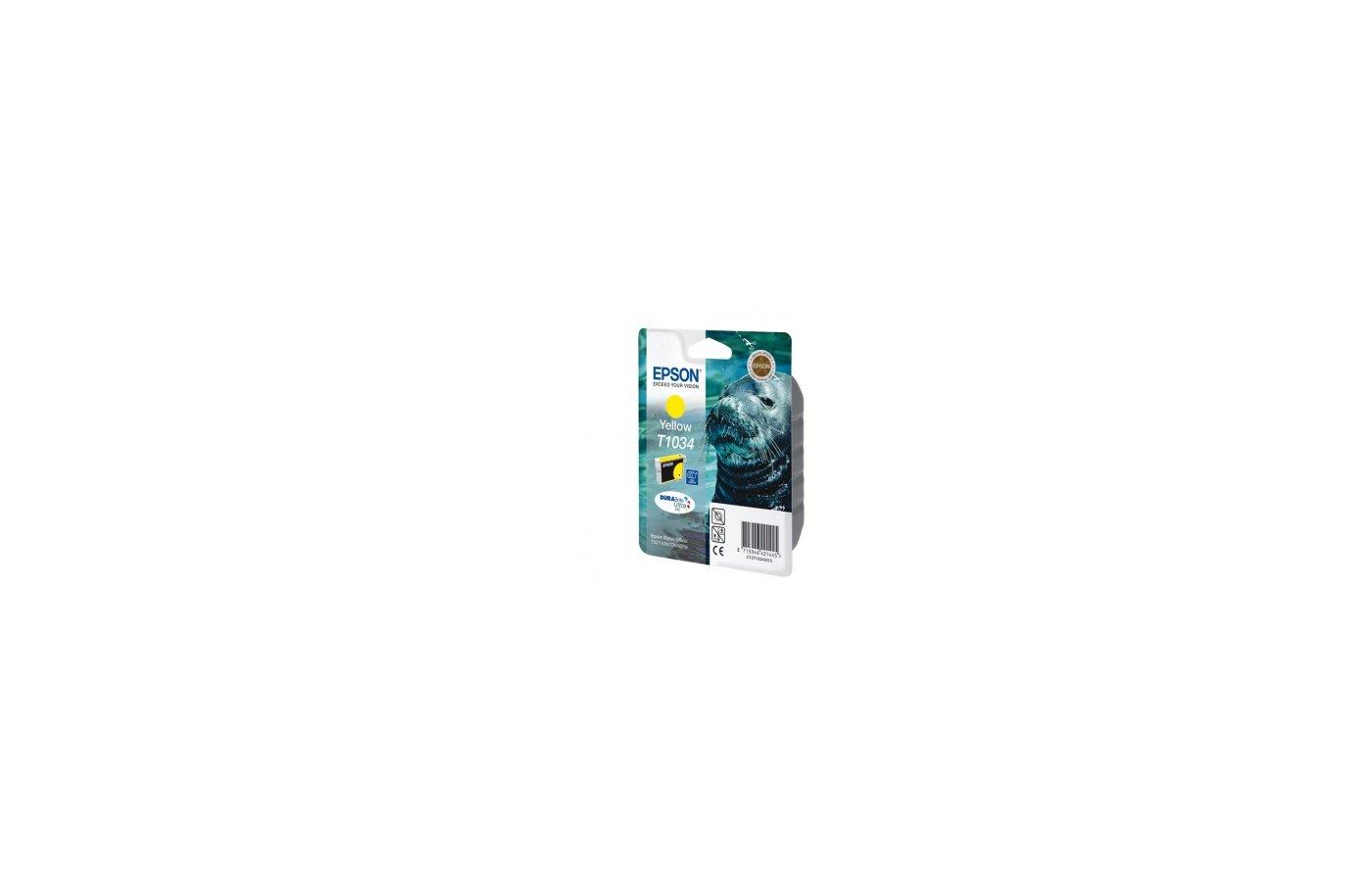 Картридж струйный Epson C13T10344A10 желтый для T30/T40W/TX550W/TX600FW