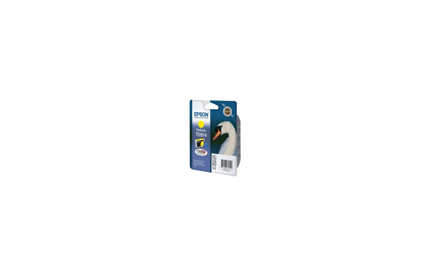 Картридж струйный Epson C13T11144A10 T0814 желтый R270/290/RX590 (замена C13T08144A)