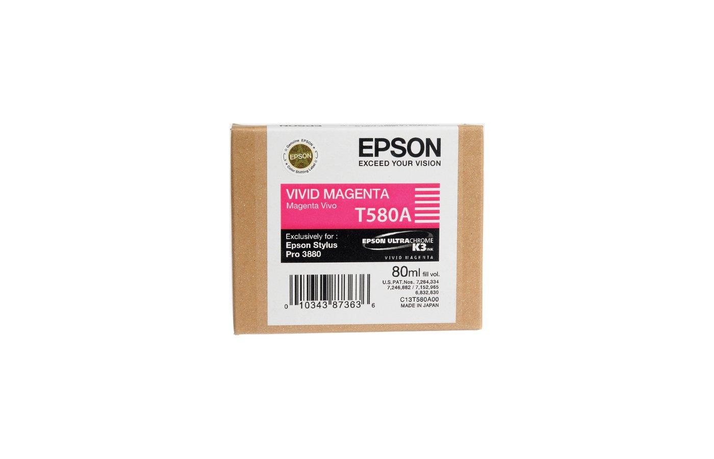 Картридж струйный Epson C13T580A00 картридж (Vivid Magenta для Stylus PRO 3800 (насыщенный пурпурный))