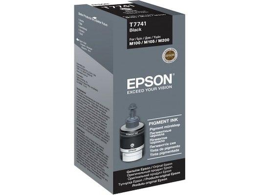 Картридж струйный Epson C13T77414A картридж (Black для M100/105/200 (черный))