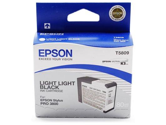 Картридж струйный Epson C13T580900 картридж (Light Light Black для Stylus PRO 3800 (светло-серый))