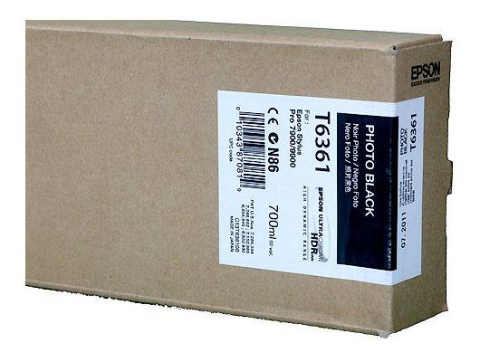 Картридж струйный Epson C13T636100 картридж (Photo Black для Stylus PRO 7900/9900 (700ml) (фото черный))