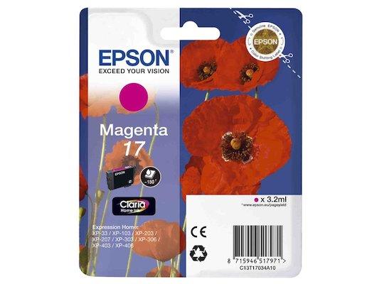 Картридж струйный Epson C13T17034A10 картридж (Magenta для XP33/203/303 (пурпурный))