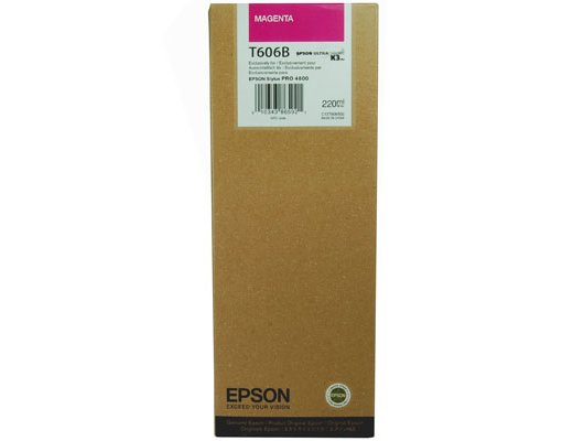 Картридж струйный Epson C13T606B00 картридж (Magenta для Stylus Pro 4800/4880 (220ml) (пурпурный))