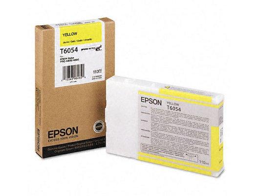 Картридж струйный Epson C13T605400 картридж (Yellow для Stylus Pro 4800/4880 (110ml) (желтый))