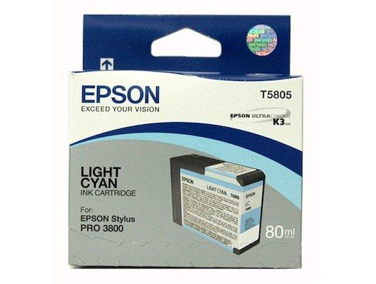 Картридж струйный Epson C13T580500 картридж (Light Cyan для Stylus PRO 3800 (светло-голубой))