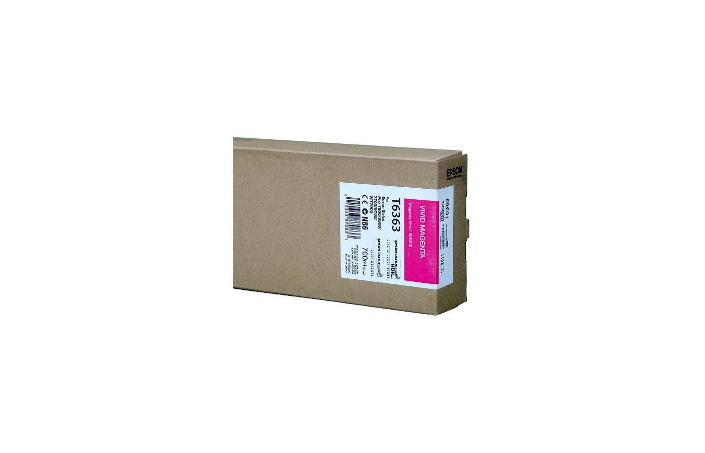 Картридж струйный Epson C13T636300 картридж (Vivid Magenta для Stylu PRO 7900/9900 (700ml) (насыщенный пурпурный))