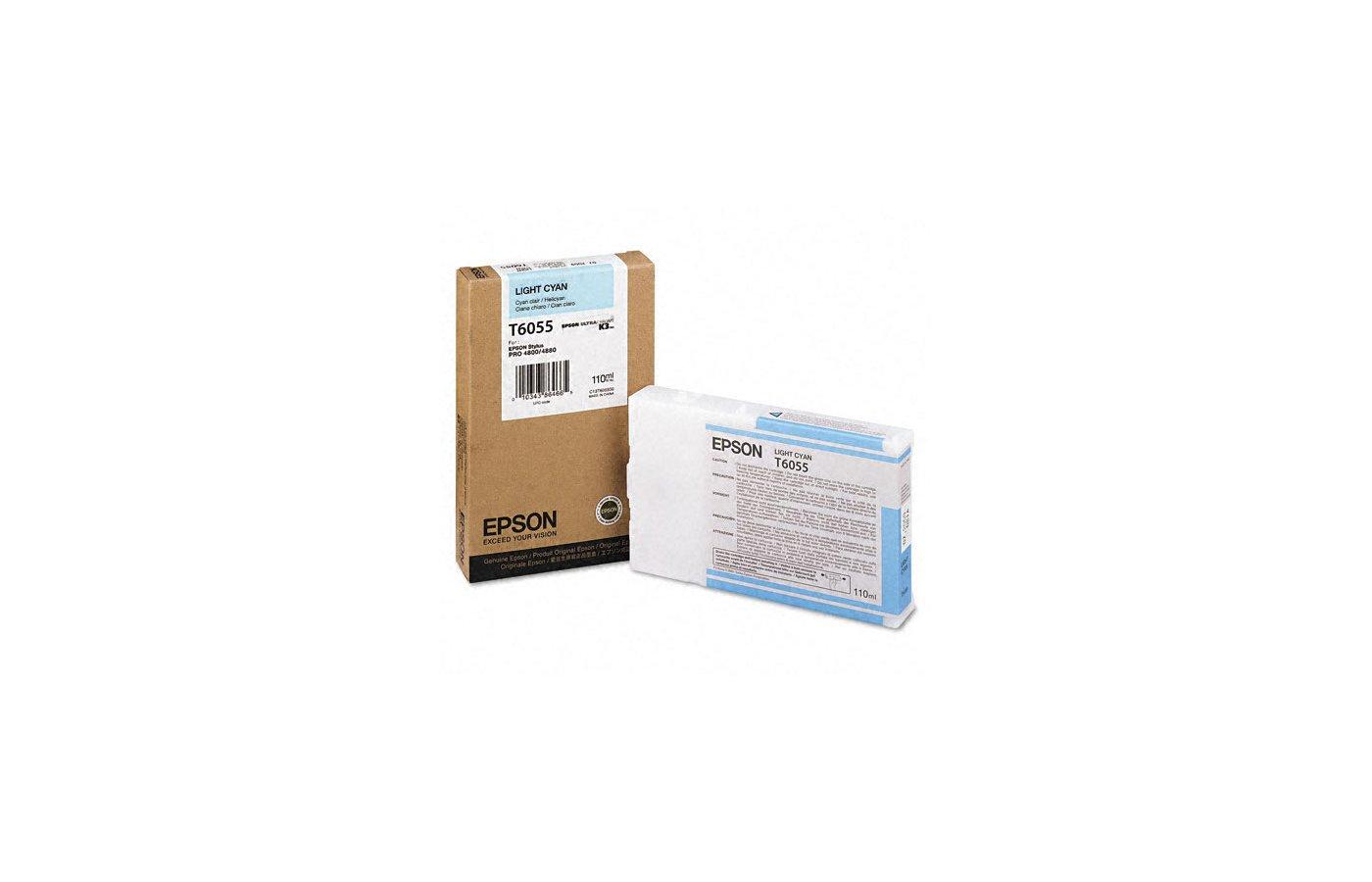Картридж струйный Epson C13T605500 картридж (Light Cyan для Stylus Pro 4800/4880 (110ml) (светло-голубой))