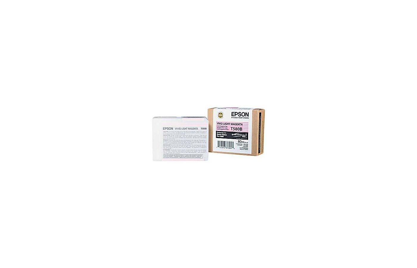 Картридж струйный Epson C13T580B00 картридж (Vivid Light Magenta для Stylus PRO 3800 (насыщенный светло-пурпурный))