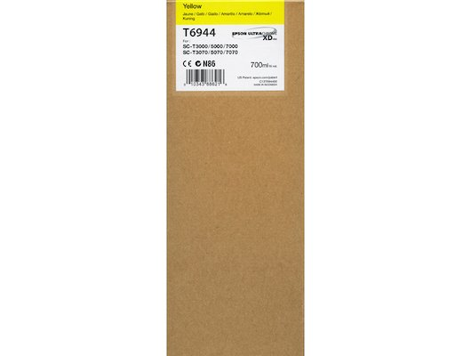 Картридж струйный Epson C13T694400 картридж (Yellow для T3000/5000/7000 (700ml) (желтый))