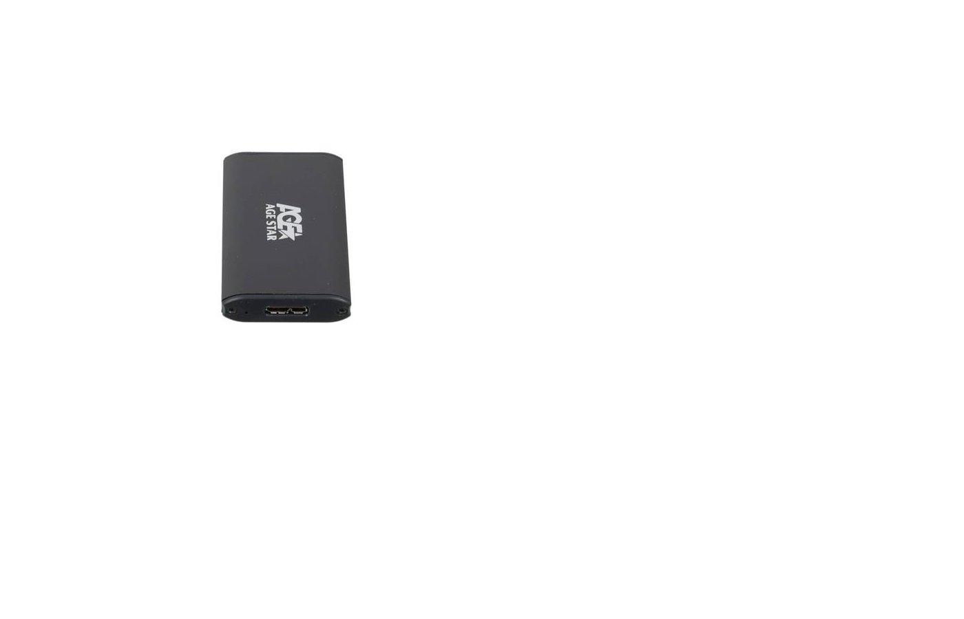 Корпус для жесткого диска AgeStar 3UBMS1 mSATA USB 3.0 пластик/алюминий черный