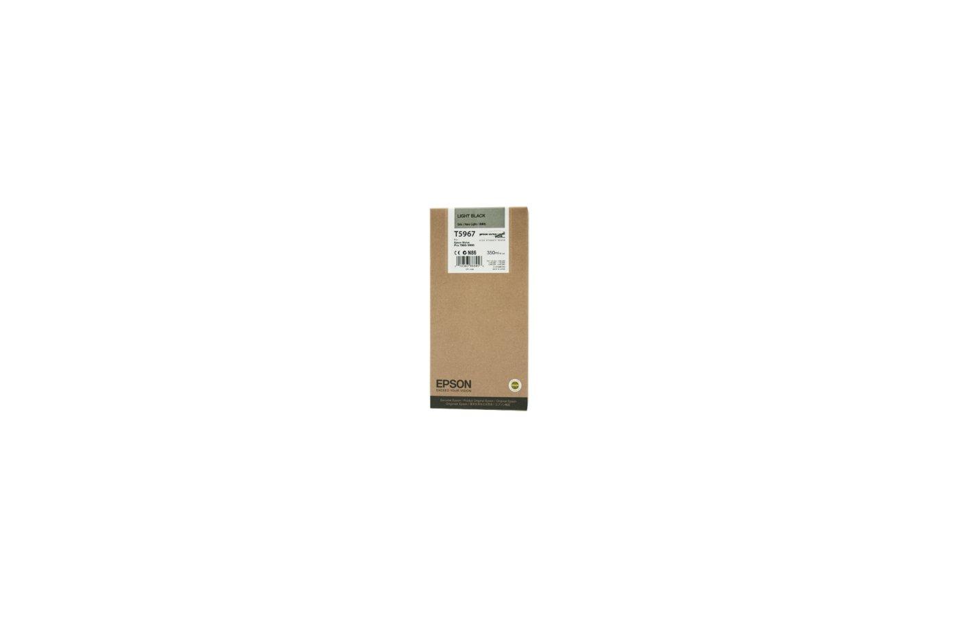 Картридж струйный Epson C13T596700 картридж (Light Black для Stylus PRO 7900/9900 (350ml) (серый))