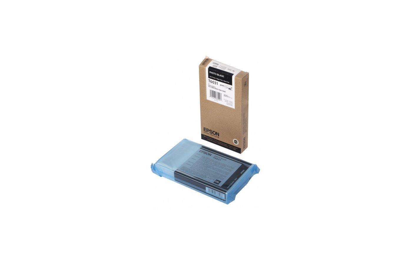 Картридж струйный Epson C13T603100 black для Stylus Pro 7800/9800/7880/9880 (220ml)