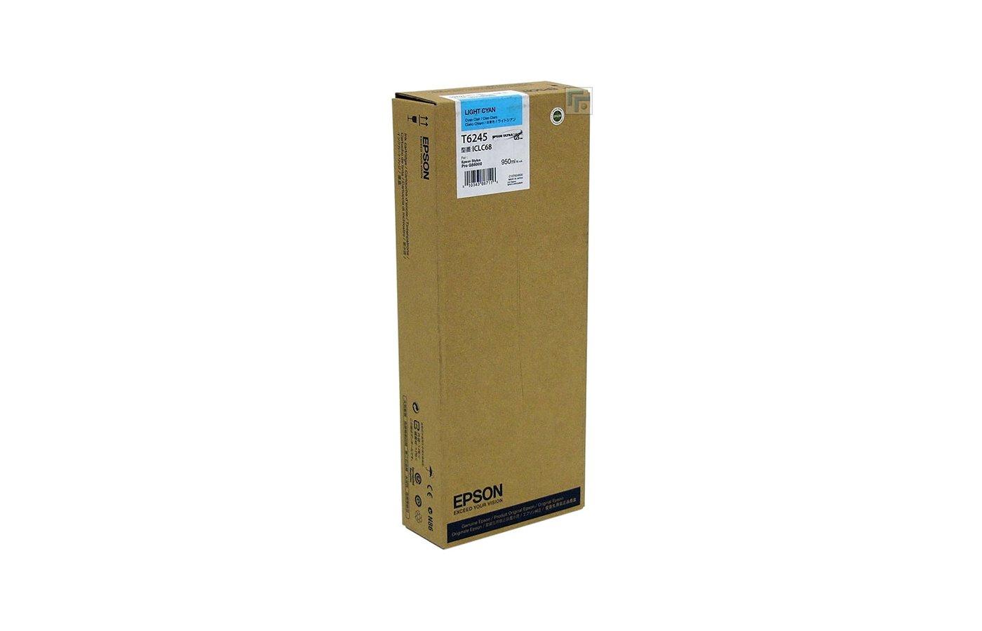 Картридж струйный Epson C13T624500 картридж (Light Cyan для Stylus Pro GS6000 (950ml) (светло-голубой))