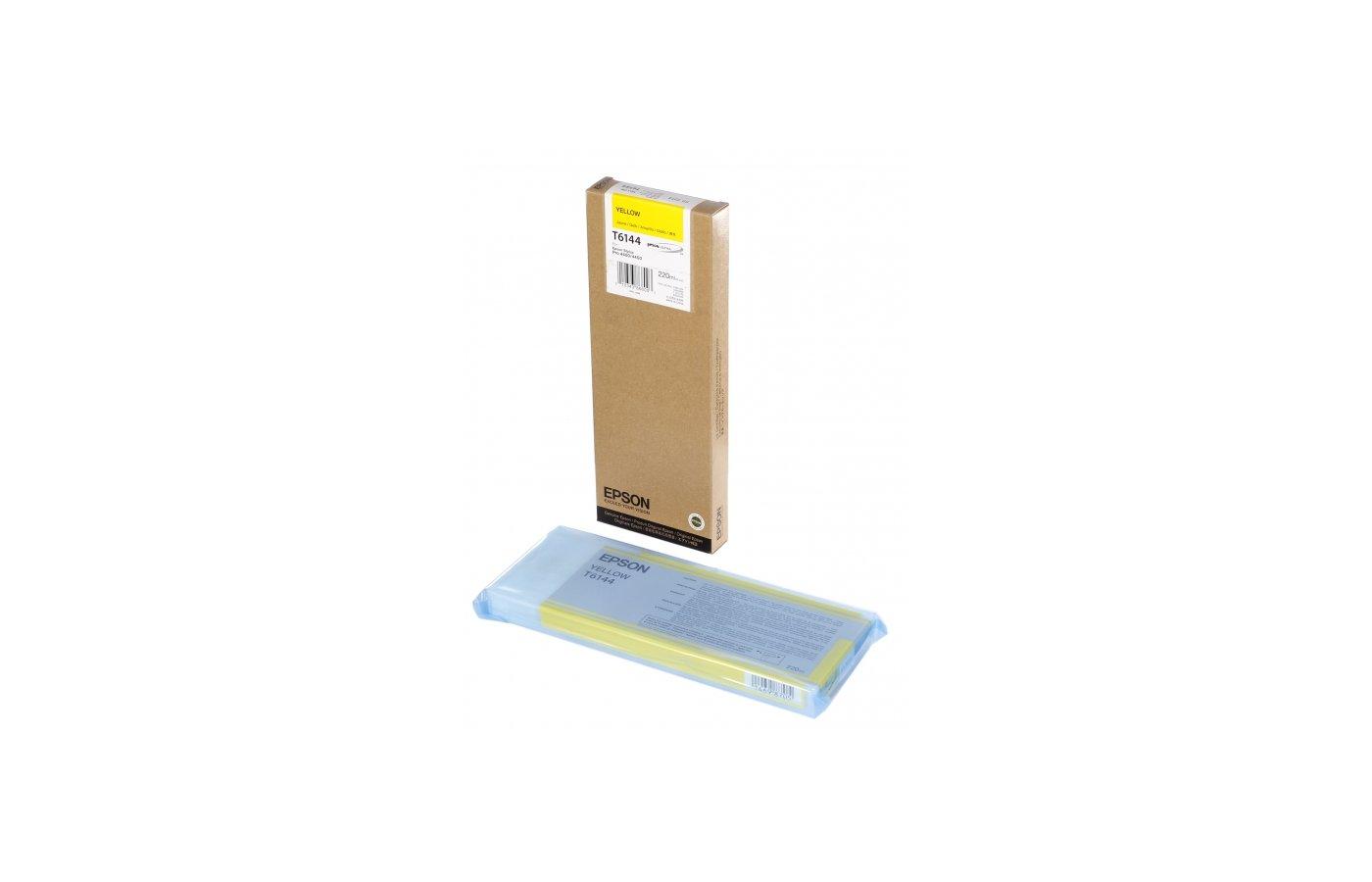 Картридж струйный Epson C13T614400 matt yellow для SP4450 (220ml)