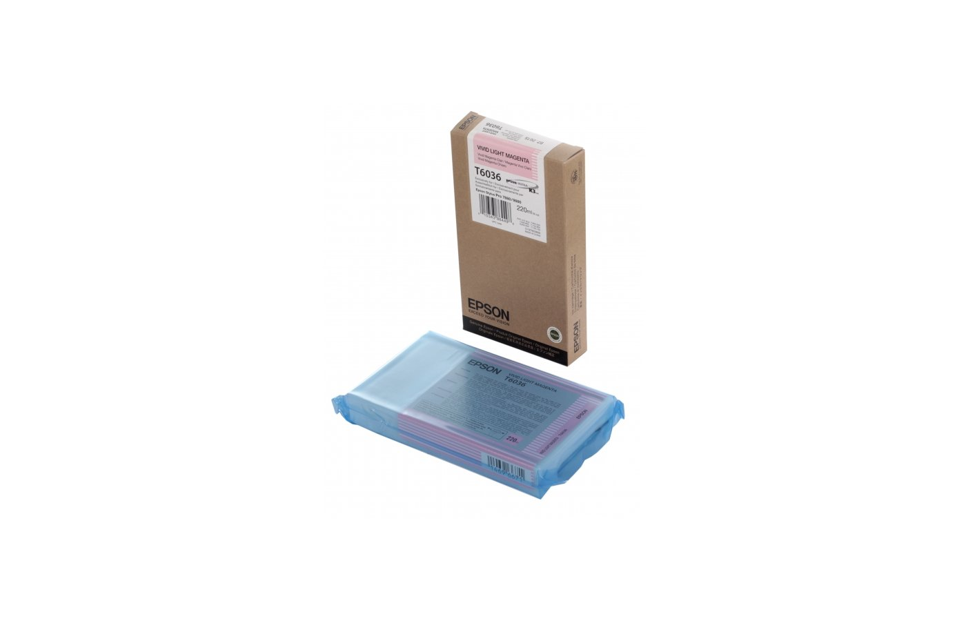 Картридж струйный Epson C13T603600 lt.magenta для Stylus Pro 7880/9880 (220ml) (Vivid LM)