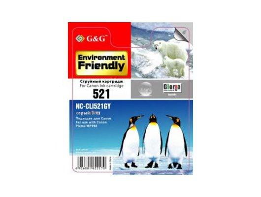 Картридж струйный GG NC-CLI-521GY Совместимый струйный Canon Pixma MP540/550/560/620/630/640/980/990 MX860/870 IP3600