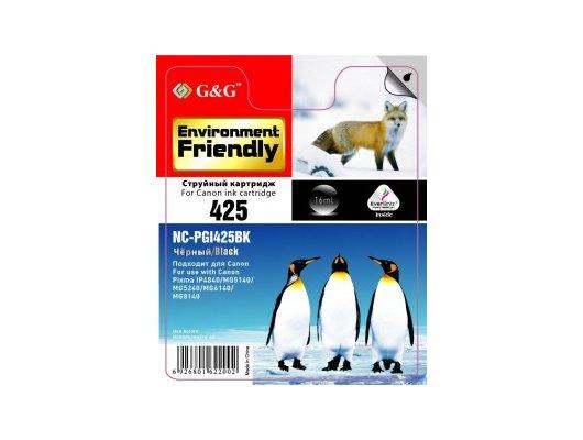 Картридж струйный GG NC-PGI-425BK Совместимый струйный для Canon Pixma IP4840 MG5140/5240/6140/6540/8140 MX884