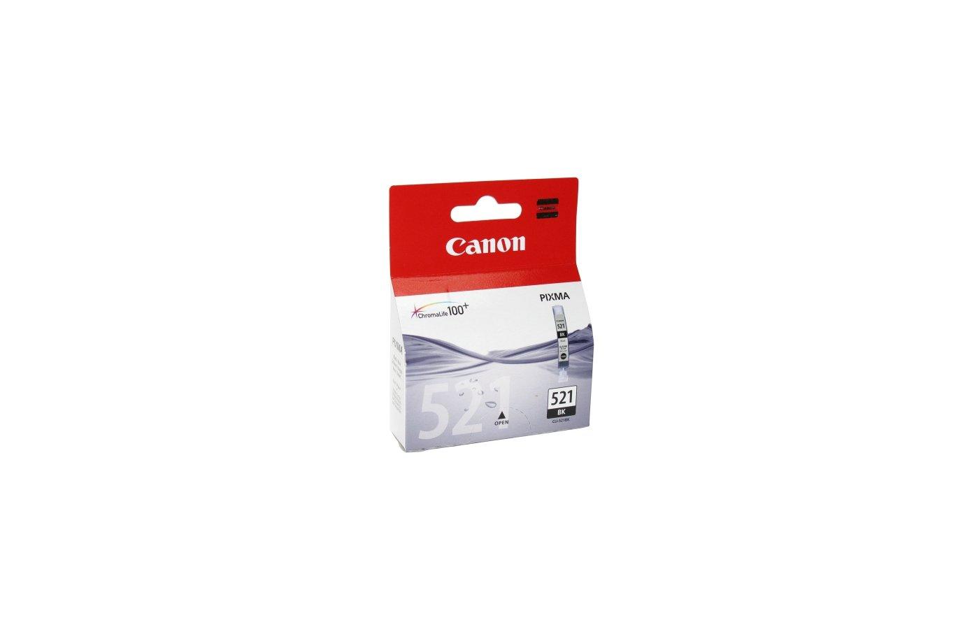 Картридж струйный GG NC-CLI-521BK Совместимый струйный Canon PixmaMP540/550/560/620/630/640/980/990 MX860/870 IP3600/4