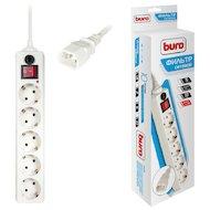 Сетевой фильтр BURO 500SH-1.8-UPS-W 5роз./1.8м. белый