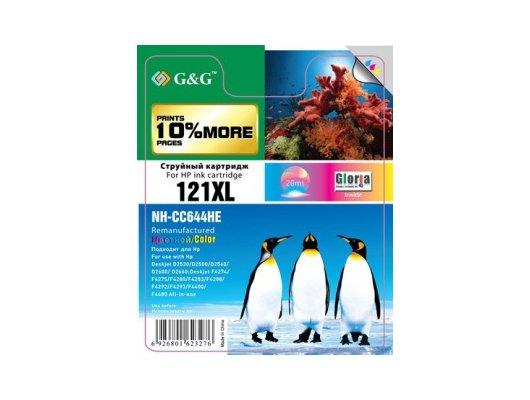 Картридж струйный GG NH-CC644HE Совместимый струйный цветной121XL для HP DJ D2530/D2500/D2560/D2600/D2660/F4274/F4275