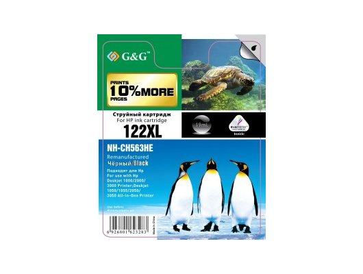 Картридж струйный GG NH-CH563HE Совместимый струйный черный122XL для HP DeskJet 1000/2000/3000/1050//1055/2050/3050