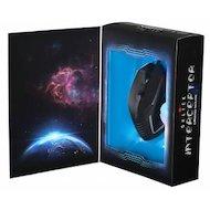 Фото Мышь проводная Oklick 735G INTERCEPTOR черный/голубой оптическая (2400dpi) USB игровая (6but)