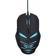 Фото Мышь проводная Oklick 745G LEGACY черный/голубой оптическая (2400dpi) USB игровая (6but)