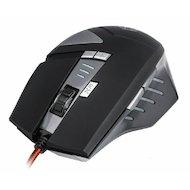 Фото Мышь проводная Oklick 755G HAZARD черный/серебристый/рисунок оптическая (3000dpi) USB игровая (7but)