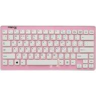Фото Клавиатура беспроводная Pravix W6410RF Верх розовый, низ белый.