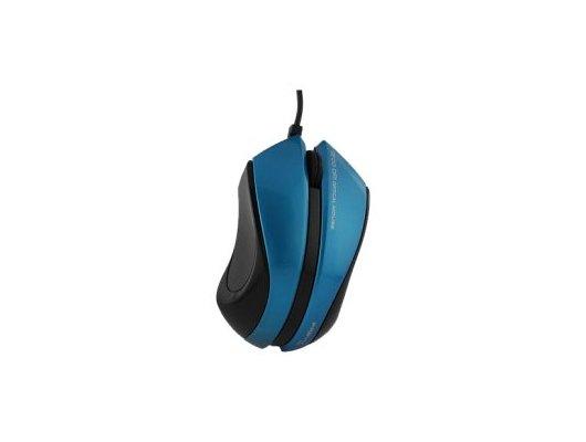 Мышь проводная Pravix JRM-28CB, темно-синий глянец/черный, провод 1.5м, USB-порт
